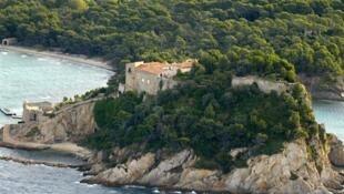 El Fuerte de Bregançon, residencia de verano de los gobernantes franceses.