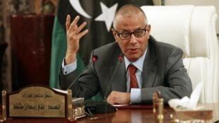 Le Premier ministre libyen Ali Zeidan, le 31 juillet 2013 à Tripoli.