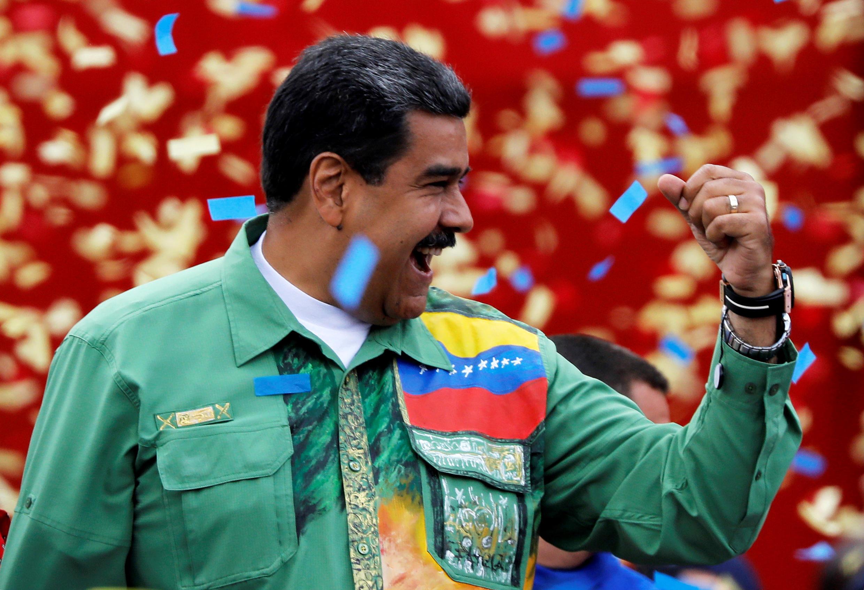 Dernier meeting de campagne pour Nicolas Maduro qui sera opposé dimanche à deux challengers: Henri Falcon et Javier Bertucci.
