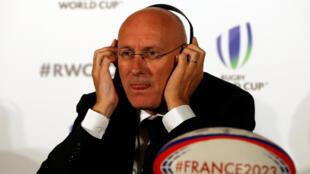 Le président réélu de la Fédération française de rugby, Bernard Laporte.