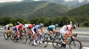 Vòng đua Tour de France, trên đường từ Albertvillle đến Val Thorens (59,5 km). Ảnh 27/07/2019.