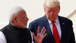 Tổng thống Mỹ Donald Trump (P) và thủ tướng Ấn Độ Narendra Modi tại New Delhi ngày 25/02/2020.