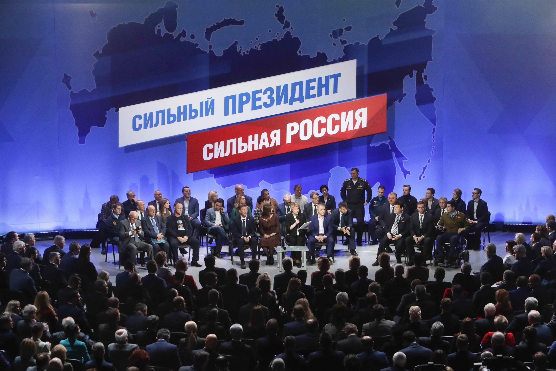 Заседание инциативной группы по выдвижению Владимира Путина на новый президентский срок. Млсква, 26 декабря 2017