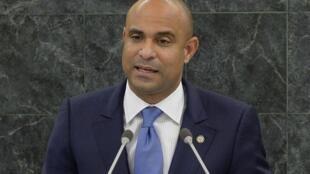 En Haïti, Laurent Lamothe (ici en septembre 2013 au siège de l'ONU) a démissionné de son poste de Premier ministre, le 14 décembre 2014.