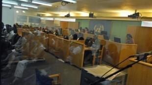 La salle du Tribunal pénal international pour le Rwanda (TPIR), à Arusha, le 18 décembre 2008.