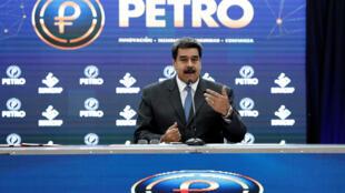 Nicolas Maduro, ici le 1er octobre 201, a commencé à parler du petro il y a des mois, en décembre dernier.