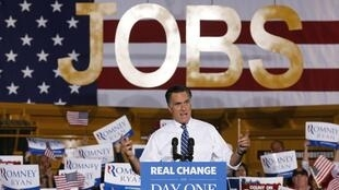 Em um evento no estado de Ohio, o republicano Mitt Romney fala sobre a criação de postos de trabalho para os americanos. Tema voltou a ser o centro dos debates na campanha presidencial dos Estados Unidos