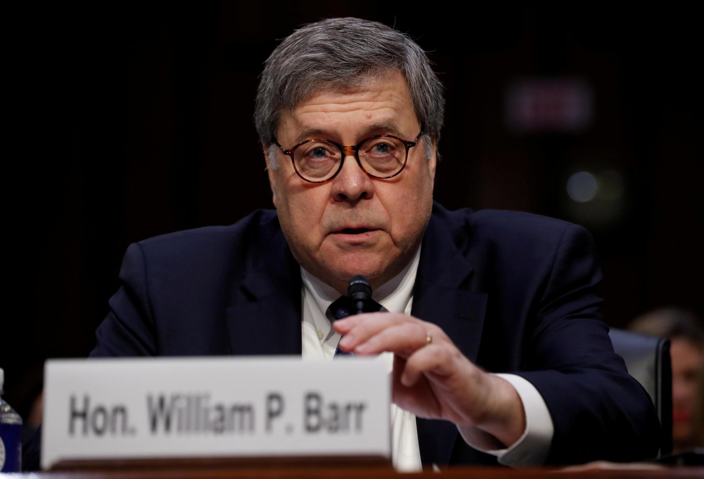 William Barr s'apprête à prêter serment devant le Sénat américain pour devenir ministre de la Justice.