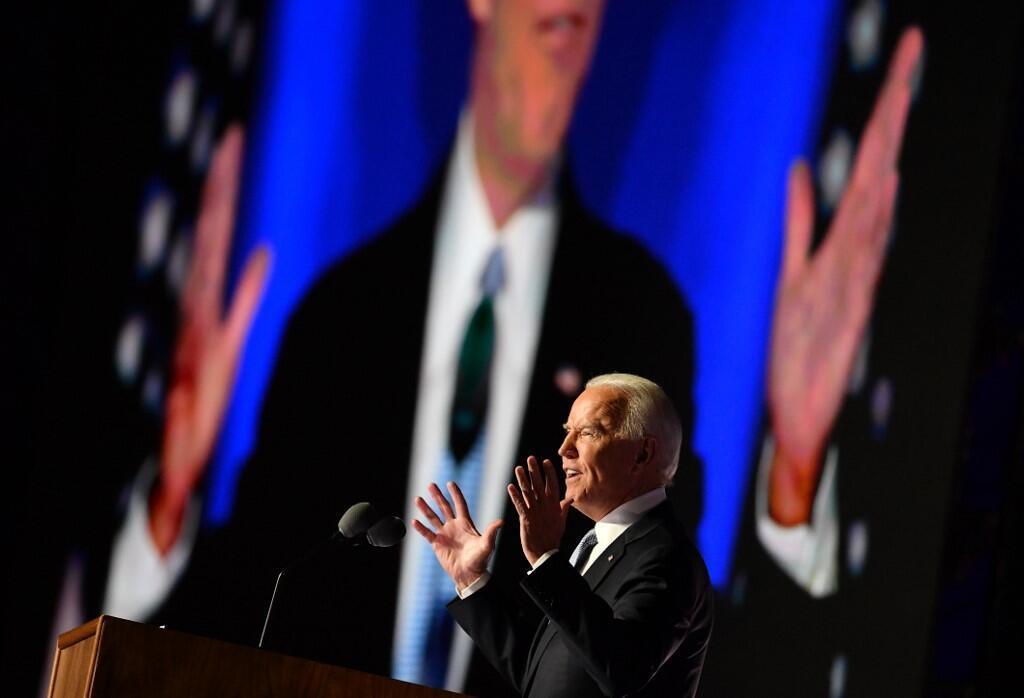 Tổng thống tân cử Joe Biden phát biểu tại Wilmington, Delaware, Hoa Kỳ, ngày 07/11/2020 sau khi được báo chí tuyên bố là người chiến thắng.