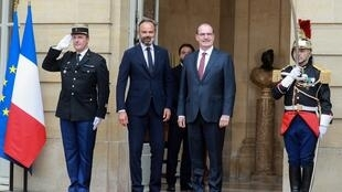 Jean Castex (right), who took over from Édouard Philippe (left) as France's prime minister, said in a TV interview that ecological concerns would be at the forefront of his government's thinking.