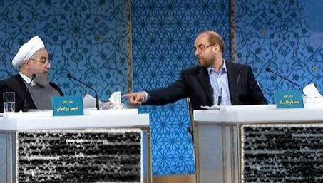 IRAN: Hassan Rohani (gauche) et Mohammad Bagher Ghalibaf