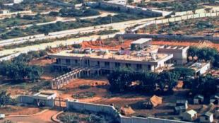 Picha isiyo na tarehe ya ubalozi wa zamani wa Marekani mjini Mogadiscio.