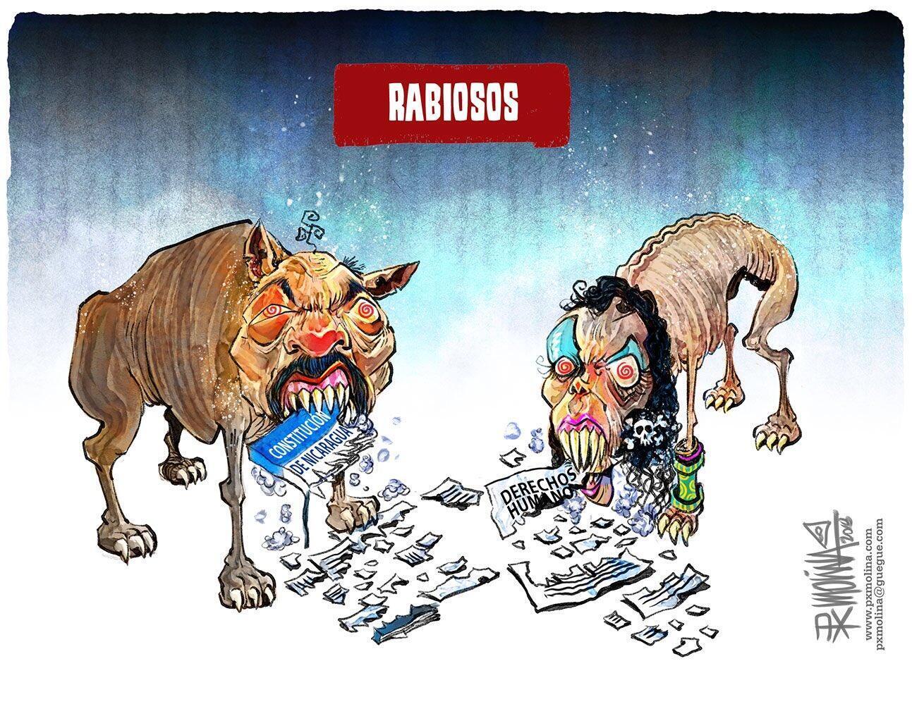 """""""Rabiosos"""", una caricatura de Pedro Molina."""