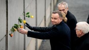Le président polonais Andrzej Duda lors des commémorations du 30e anniversaire de la chute du mur de Berlin le 9 novembre 2019.
