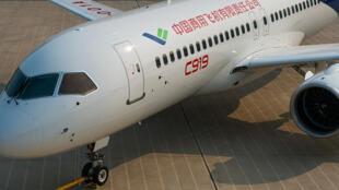 Kiểu máy bay C919 do Trung Quốc sản xuất.