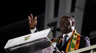 Le président ivoirien, Alassane Ouattara, lors des Jeux de la Francophonie, le 21 juillet 2017 à Abidjan.