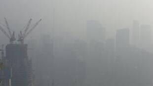 Le nuage de pollution qui frappe Pékin.