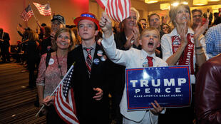 Supporters of Donald Trump in Greenwood Village, Colorado