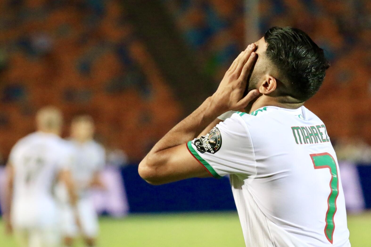 """""""Hope they don't expect that on Friday."""" Algeria skipper Riyad Mahrez scored in the last minute against Nigeria to send Algeria into the Cup of Nations final for the first time since 1990."""