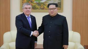 國際奧委會主席巴赫3月31日在平壤與金正恩會面