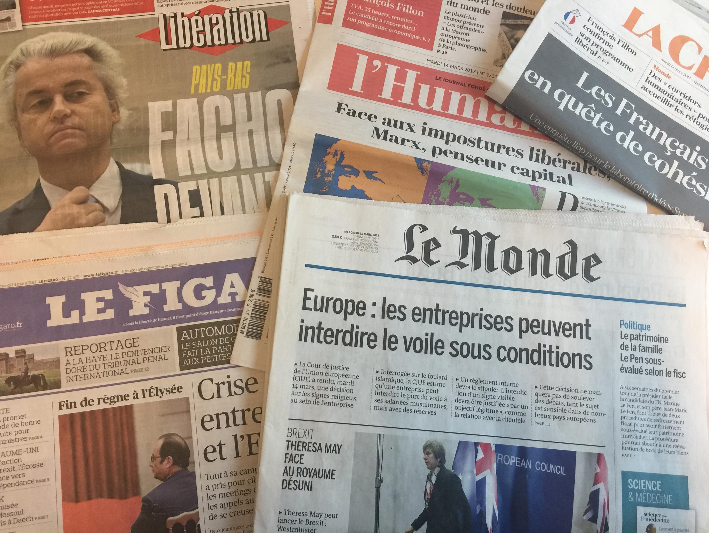 Primeiras páginas dos jornais franceses 14/03/2017