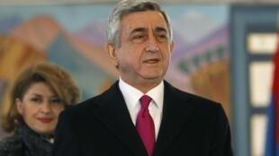 Le président arménien Serge Sarkissian. Erevan, le 18 février 2013.