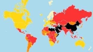 Clasificación Mundial de la Libertad de Prensa 2021.