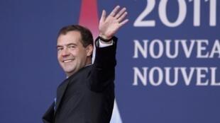 Президент России Дмитрий Медведев на саммите G20 во французских Каннах 3 ноября 2011 года