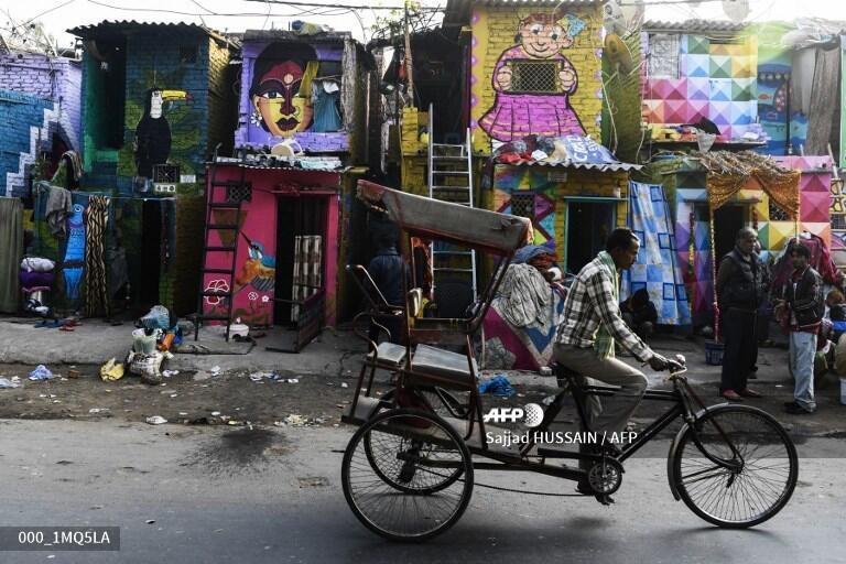 Một khu nhà ổ chuột tại New Dehli.