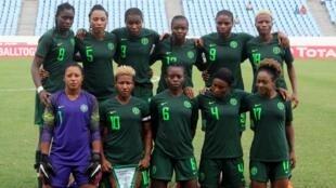 Les Nigérianes lors de la CAN 2018.