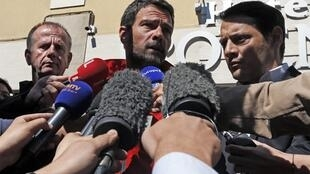 Jérôme Kerviel near the Franco-Italian border as he returned to France to serve his prison sentence earlier this year