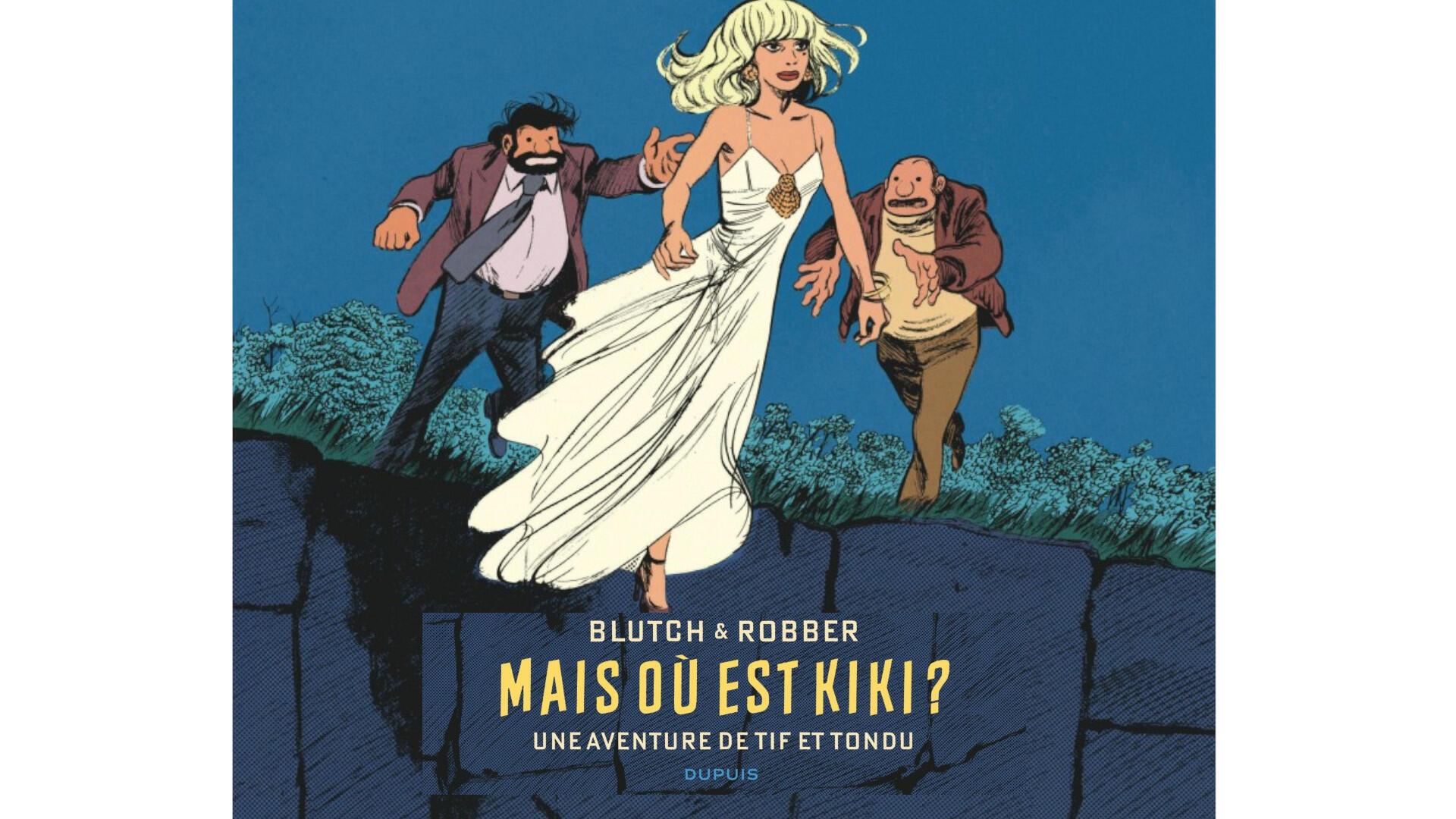 La couverture de la nouvelle bande dessinée de Blutch et Robber «Mais où est Kiki?».