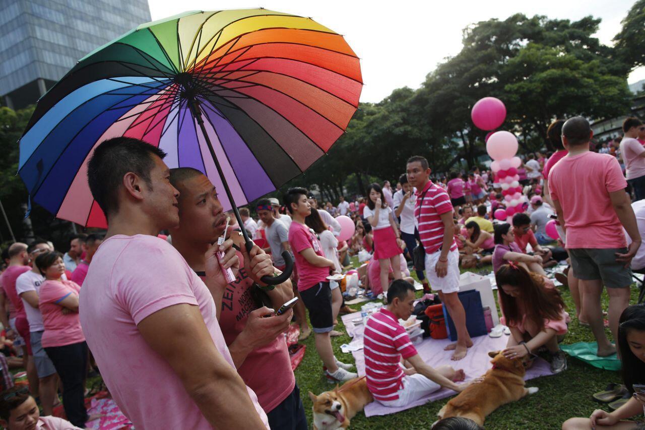 Гей-парад в Сингапуре, 2014 год.