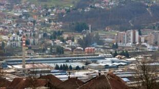 Une vue de l'usine de Krivaja dans le centre de la Bosnie obligée de fermer ses portes et de licencier des milliers d'employés, en novembre 2014.
