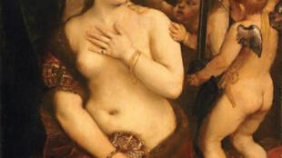 Vénus au miroir Titien vers 1555. Washington National Gallery of Art, Andrew W. Mzllon Collection.