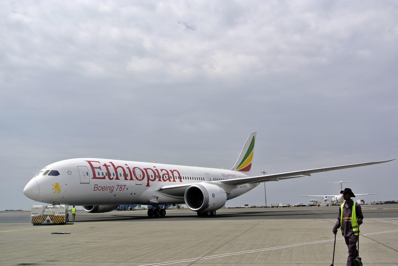Un boeing d'Ethiopian Airlines à Addis Abeba en avril 2013.