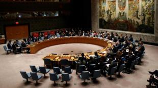 La salle du Conseil de sécurité des Nations unies.