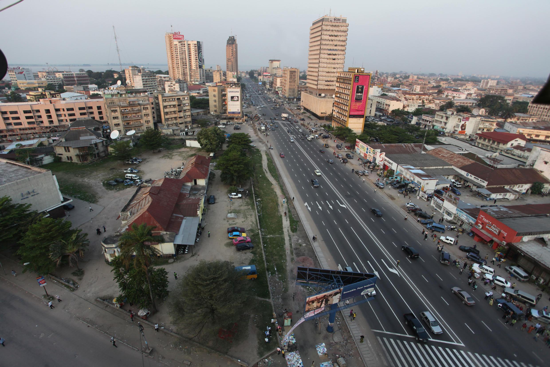 Une vue du centre-ville de Kinshasa, la capitale de la RDC.