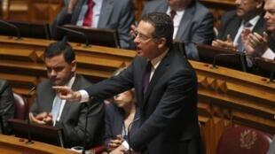 O líder da oposição portuguesa, Antônio Jose Seguro, durante debate esta semana em Lisboa.