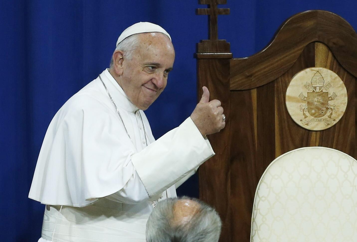 Đức Giáo hoàng Panxicô thăm một nhà tù ở Philadelphia, Hoa Kỳ. Ảnh ngày 27/09/2015.