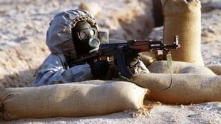 Một binh sĩ Syria