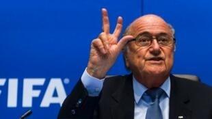"""Jospeh """"Sepp"""" Blatter, presidente da Federação Internacional de Futebol."""