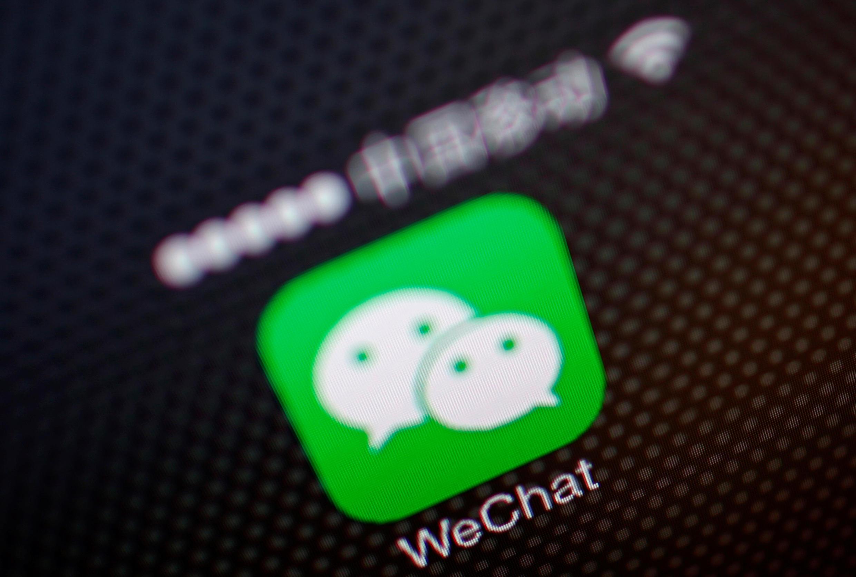 Logo WeChat. Ảnh minh họa, chụp ngày 05/12/2013.