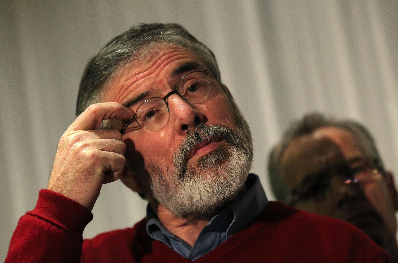 Gerry Adams, le président du parti républicain irlandais Sinn Fein, à Belfast, le 31 décembre 2013.