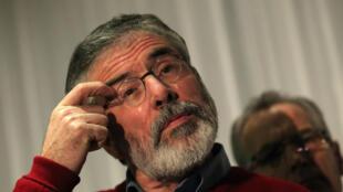 Gerry Adams, Shugaban kungiyar Sinn Fein,  a Arewacin Ireland