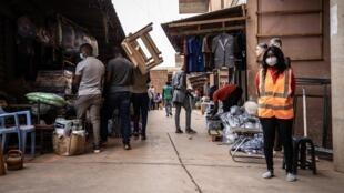Le marché de Rood Woko à Ouagadougou, en pleine crise de coronavirus, le 20 avril 2020 (image d'illustration).