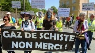 A demonstration in Donzère in the Dordogne, south-west France, in 2011