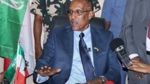 Le président du Somaliland Muse Bihi Abdi à Hargeisa, en 2017.
