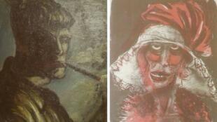 Dois quadros desconhecidos do artista Otto Dix estavam entre as obras de arte roubadas pelos nazistas e encontradas no apartamento de Cornelius Gurlitt.