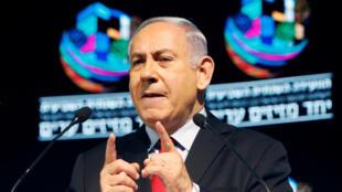 بنیامین نتانیاهو نخست وزیر اسرائیل در تل آویو